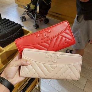 NWT Tory Burch Alexa Slim Wallet Red or Pink
